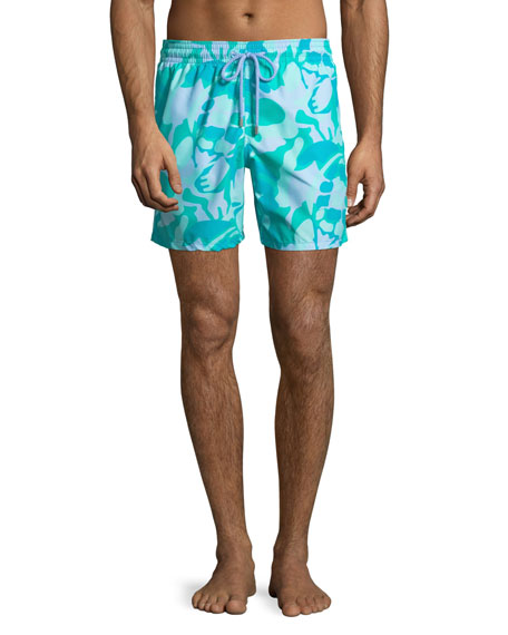 Vilebrequin Men's Moorea Camouflage Turtles Swim Trunks