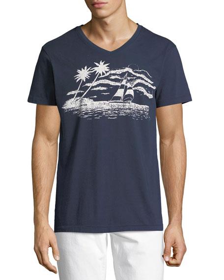 Sol Angeles Sail Away Graphic V-Neck T-Shirt