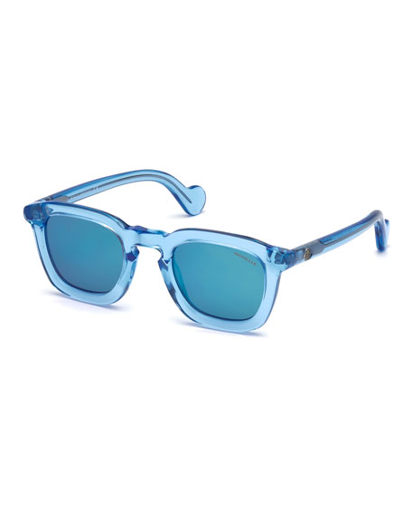 Square Translucent Plastic Universal Fit Sunglasses