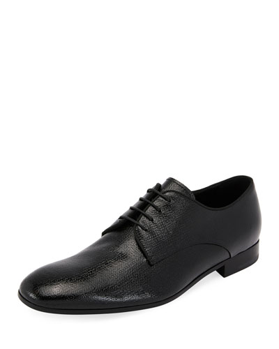 Vernice Olona Textured Leather Oxford Shoe