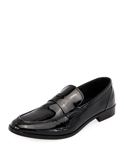 Formal Deconstructed Soft Patent Leather Loafer