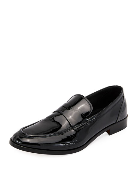 Giorgio Armani Formal Deconstructed Soft Patent Leather Loafers