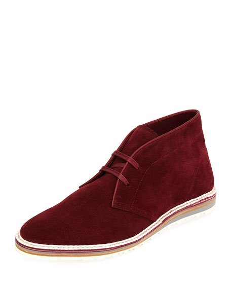 Yankee Suede Chukka Boot, Red