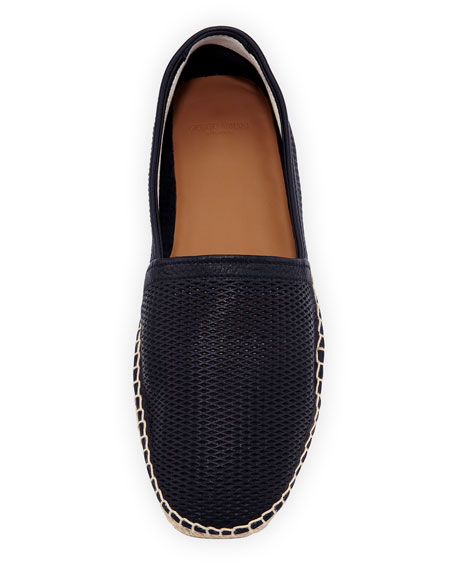 Men's Perforated Deerskin Leather Espadrille