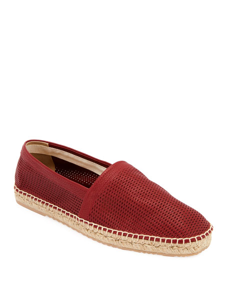 ArmaniPerforated Leather Espadrilles