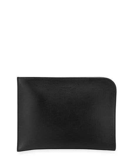 Artisan Smooth Leather Portfolio Case, Black