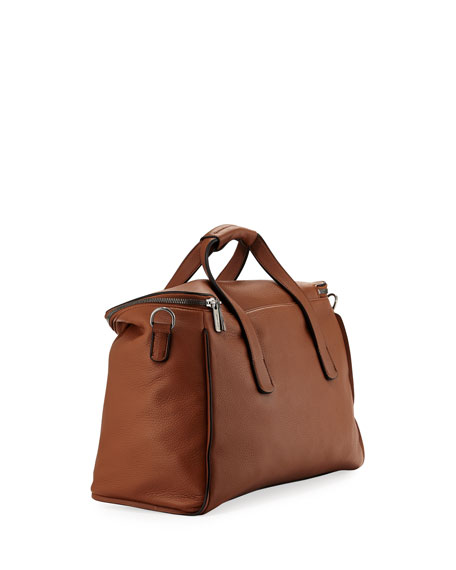 Calf Leather Weekender Bag