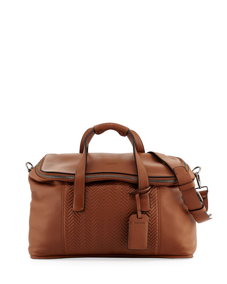 Giorgio Armani Calf Leather Weekender Bag