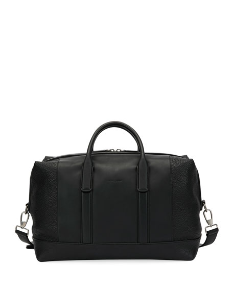 Giorgio Armani Leather Weekender Bag