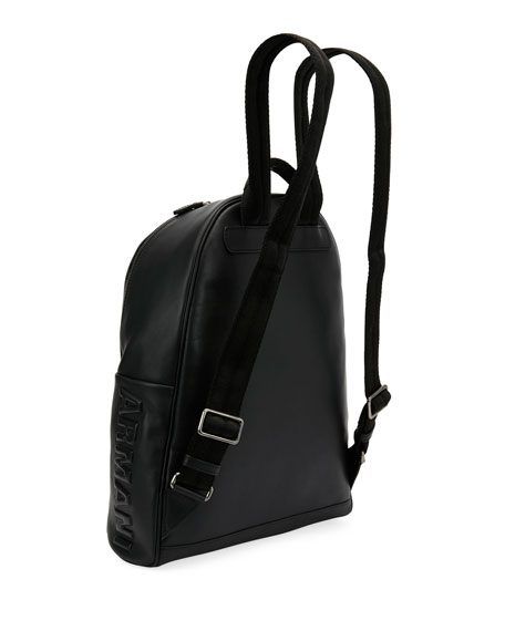 Armani Leather Backpack, Black