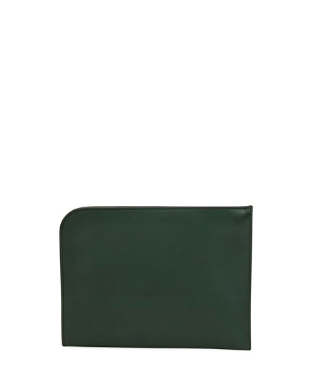Artisan Smooth Leather Portfolio Case, Green