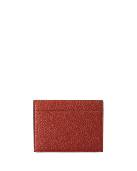Giorgio Armani Cervo Leather Credit Card Holder