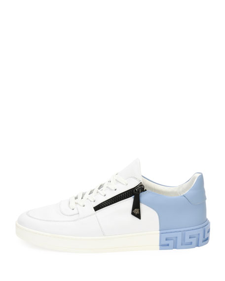 Men's Eros Zip Leather Low-Top Sneakers