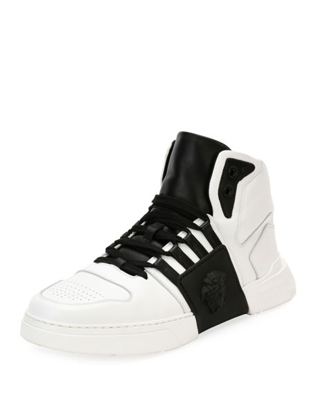 Versace Fashion Show Medusa-Embossed High-Top Sneaker