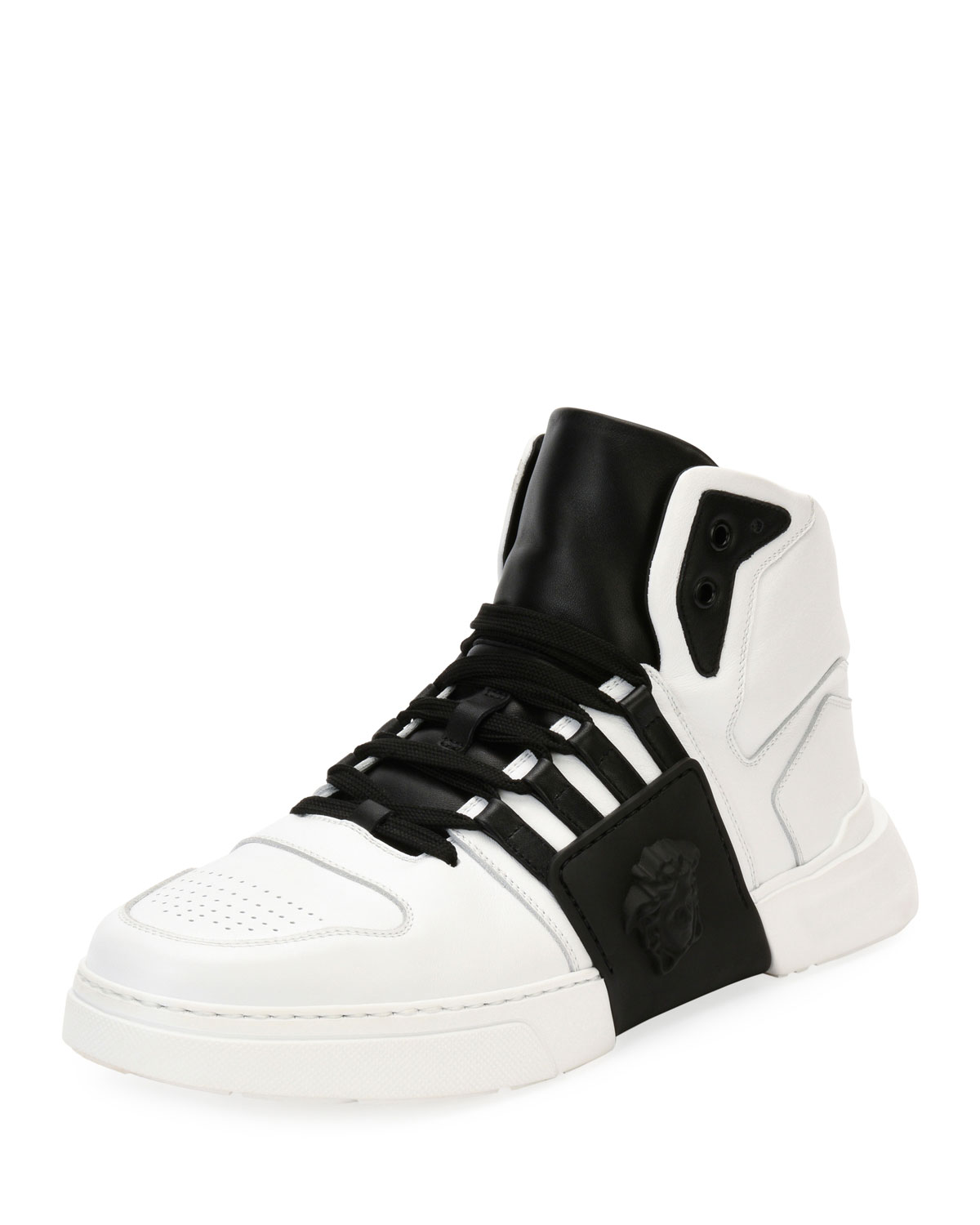5d373e5f96c Versace Men s Fashion Show Medusa-Embossed High-Top Sneakers ...