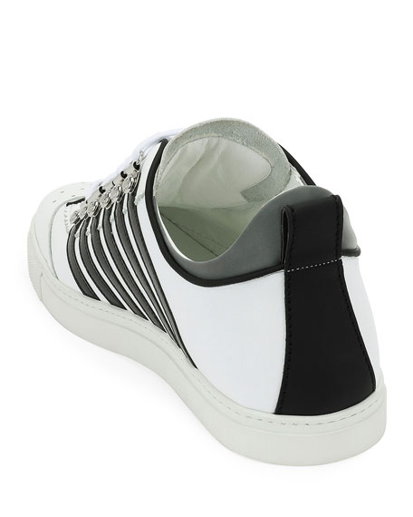 Men's Low-Top Contrast-Stripe Sneakers
