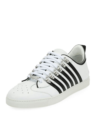 Low-Top Contrast-Stripe Sneaker