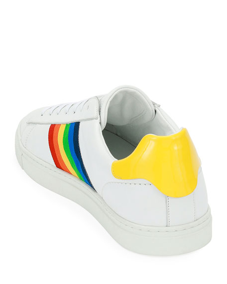 Rainbow-Stripe Low-Top Sneaker