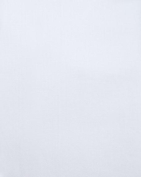 Basic French-Cuff Solid Dress Shirt, White