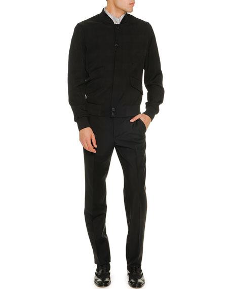 Wool/Mohair Trousers, Black