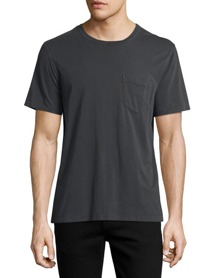 Billy Reid Washed Pocket Crewneck T-Shirt