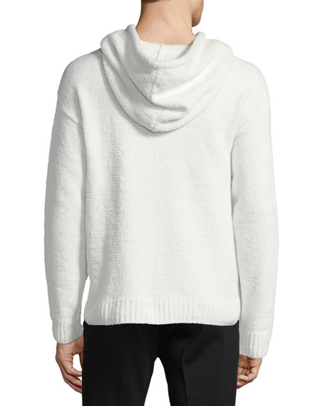 Chenille Hooded Pullover Sweater