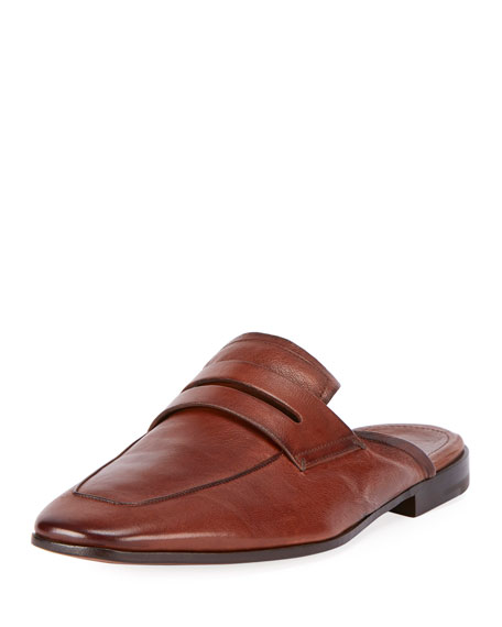 Berluti Kangaroo Leather Slip-On Loafer Mule