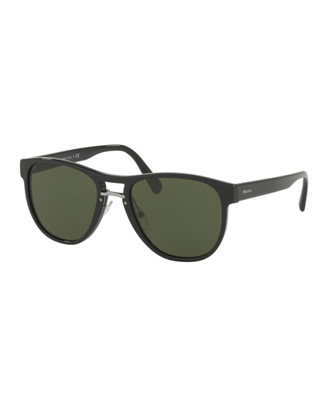 Prada Men's Square Acetate Sunglasses