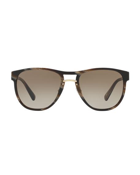 Men's Square Acetate Gradient Sunglasses