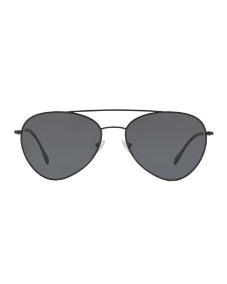 Men's Polarized Metal Pilot Sunglasses