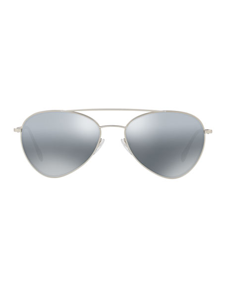Men's Mirrored Pilot Sunglasses