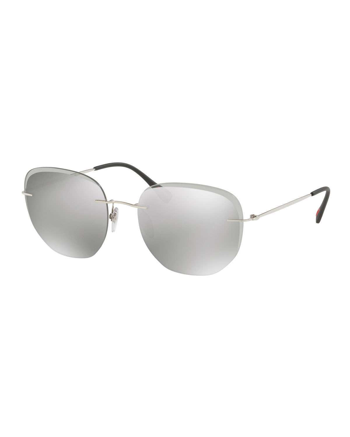 ec463a0d433 Prada Men s Rimless Square Sunglasses