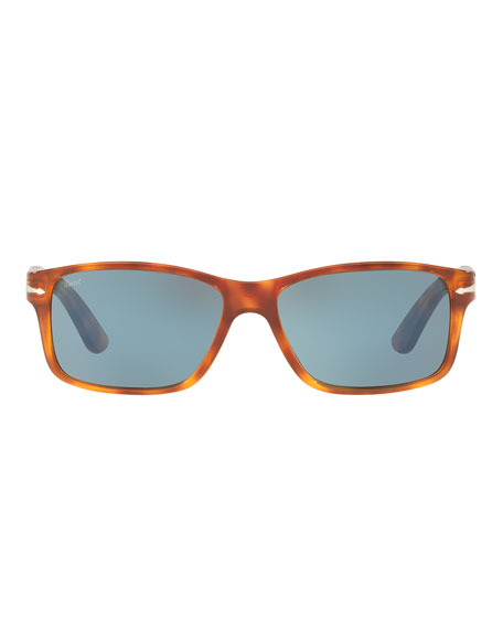 Rectangular Propionate Sunglasses with Gradient Lenses
