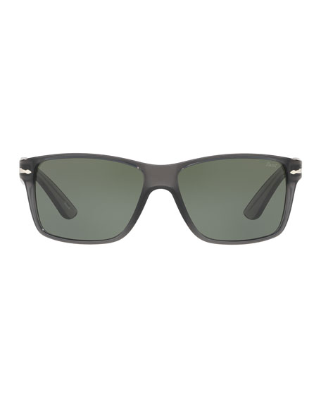 Persol Square Plastic Sunglasses, Gray