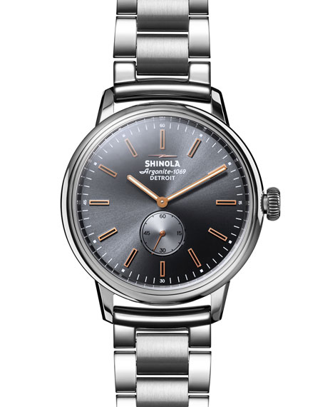Shinola Men's 42mm Bedrock Sub Second Bracelet Watch