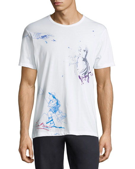 Burberry Men's Daleford Graphic T-Shirt