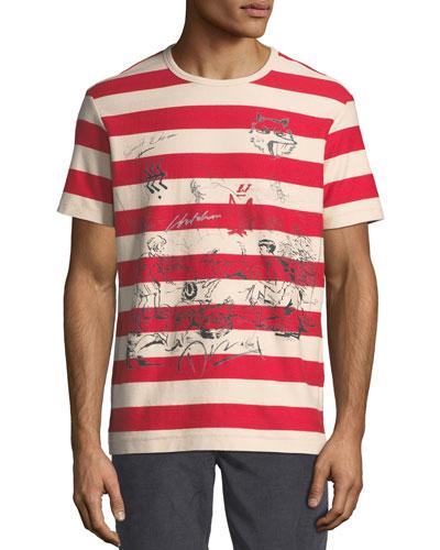 Fernbridge Striped Graphic T-Shirt