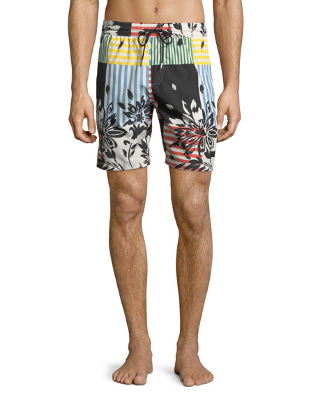 Burberry Guildes Graphic-Print Swim Trunks