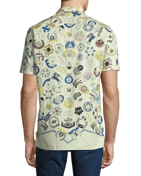 Men's Bynes Royal Warrant Short-Sleeve Sport Shirt