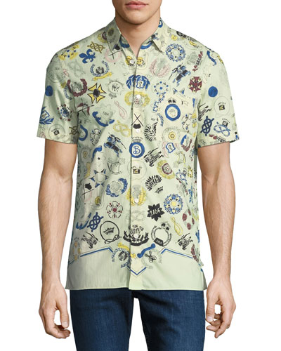 Men's Bynes Royal Warrant Short-Sleeve Sport Shirt