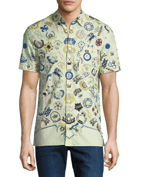Burberry Men's Bynes Royal Warrant Short-Sleeve Sport Shirt