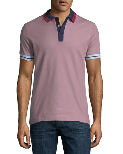 Lenford Contrast-Trim Polo Shirt