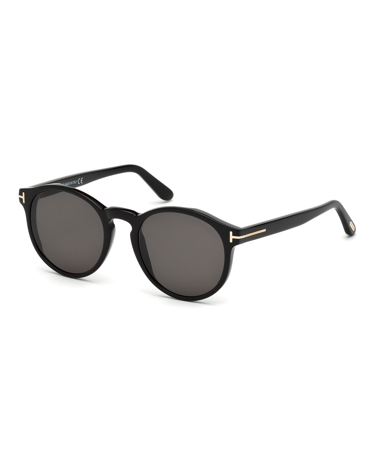 f25c257f173 TOM FORD Ian Round Acetate Sunglasses