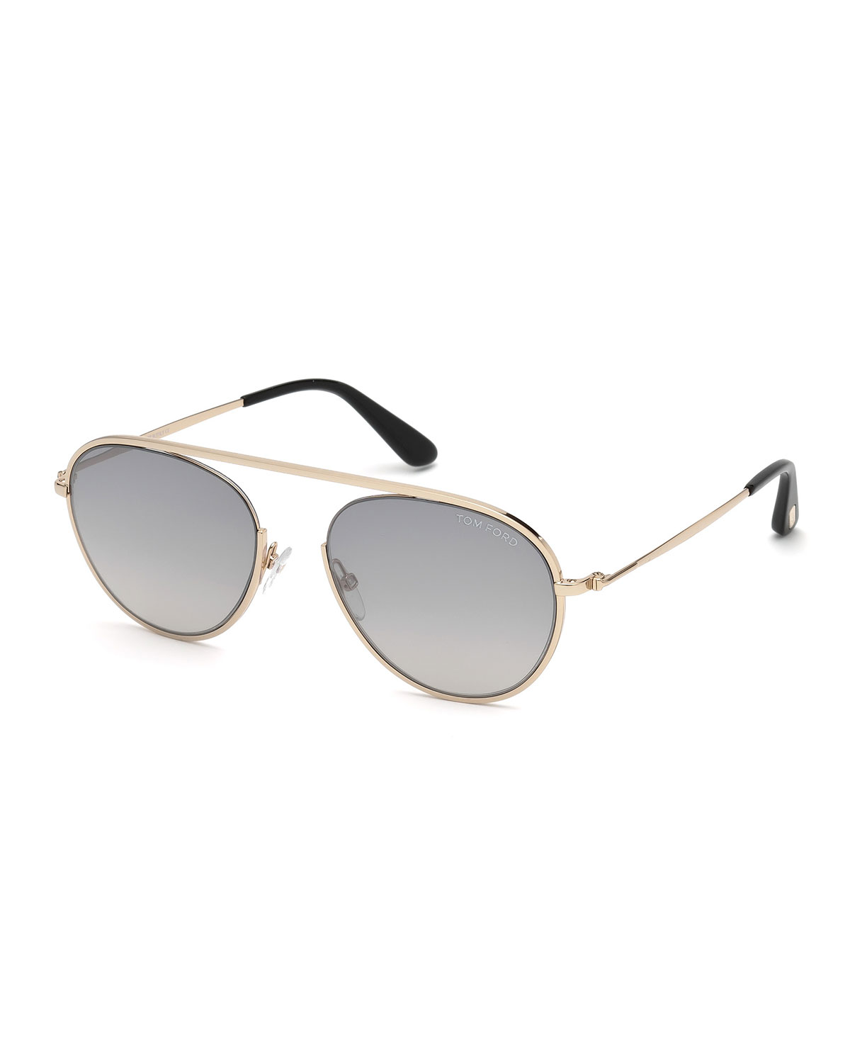 10911e51374f TOM FORD Keith Men s Round Brow-Bar Metal Sunglasses
