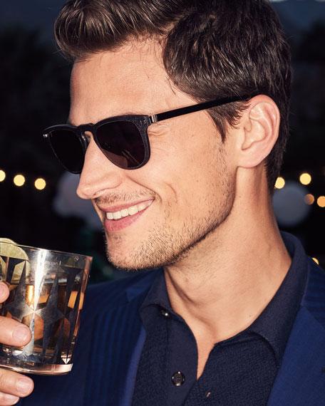 Square Plastic Keyhole Sunglasses