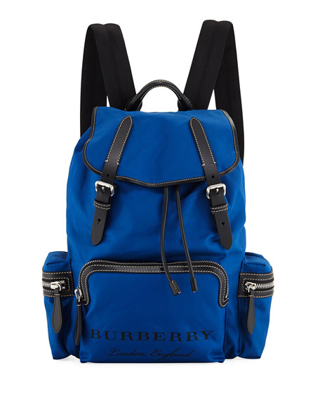 Burberry Sailing Canvas Rucksack Nylon Backpack