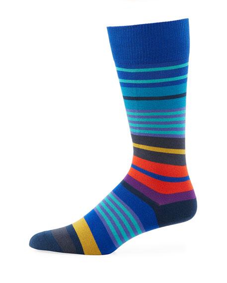 Paul Smith Fennel Striped Cotton-Blend Socks