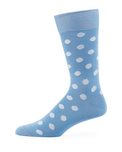 Bright Polka Dot Cotton-Blend Socks