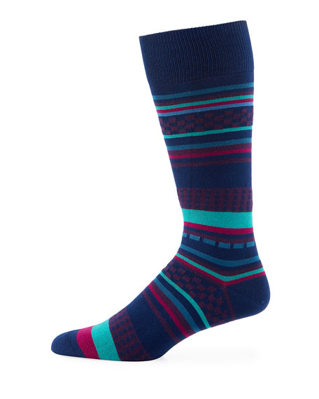 Jiggle Jacquard Striped Socks