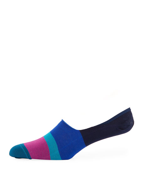 Paul Smith Dill Striped Cotton-Blend No-Show Socks